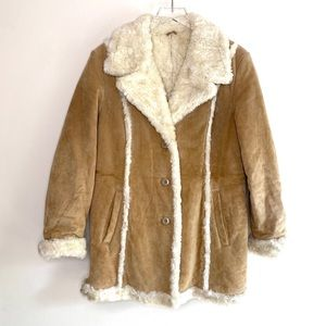 Suede 70s Penny Lane Hippie Coat Wilsons Leather